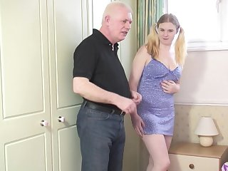 Blonde, Chubby, Couple, Pigtail, Sucking