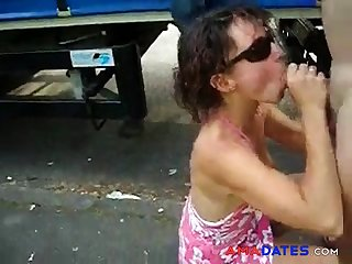 Wife sucking cock be advisable for a truck driver. Public Nudity